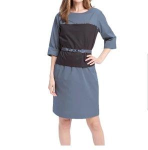 Elie Tahari Women's Blue Cotton-blend Chiles Dress